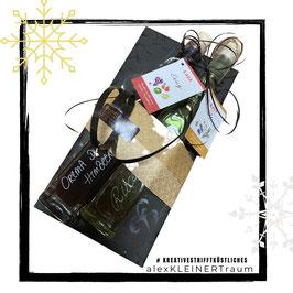Geschenkset: bestehend aus Rucolaöl 200ml + Crema di balsamico Himbeere 200ml