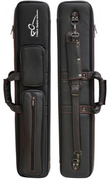 Cue Bag Leather F. Caudron 2/4 Black