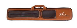Cue case in leather Frédéric Caudron 2/4 brown and Cream