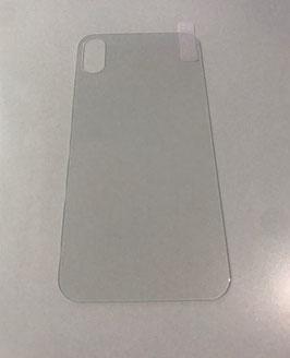 Verre de protection arrière pour iPhone X et XS de couleur transparente