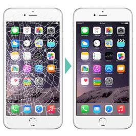 Remplacement de la vitre lcd de iphone 6 Plus