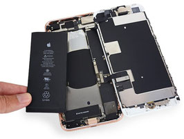 Remplacement de la batterie iphone 8
