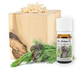 ZirbenWürfel-Set inkl. 10g Zirbenspäne + Bio Zirbenöl 10ml
