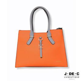 Sac à Main Orange & Gris • TED LAPIDUS