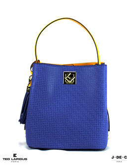 Sac CONCERTO II Bleu Royal & Jaune • TED LAPIDUS Paris