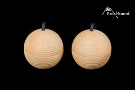 Training spheres with special ribbing