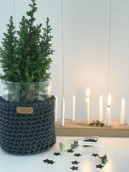 Windlicht/ Vase * recycled cotton *