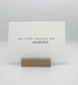 Postkarte *sei wild*