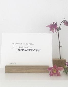 Postkarte *garden*