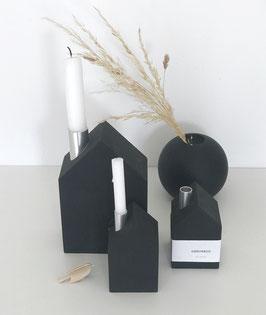 Kerzenhaus schwarz