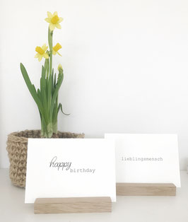 Postkarte *happy birthday*