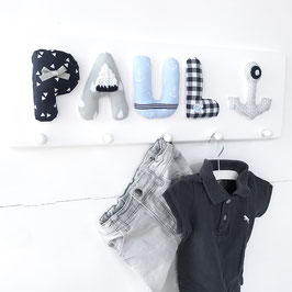 Garderobe Baumwolle, HELLBLAU-GRAU-DUNKELBLAU