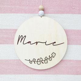 *Name liebt Holz* Anhänger, MARIE