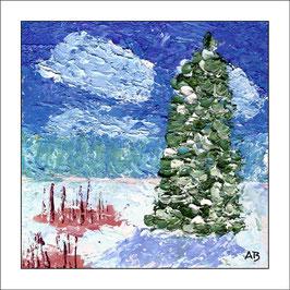 2016-03#26_Winterlandschaft-Impasto-Ölmalerei