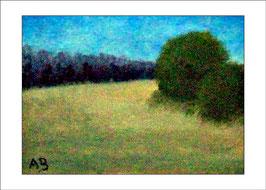 2016-06#07_Landschaft-Weizenfeld-Wald-Bäume-Gelb-Ölmalerei-Gemälde