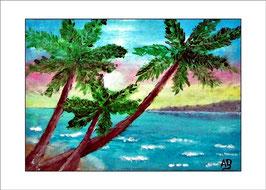 2016-02#07_Meerlandschaft-Palmen-Ölmalerei-Landschaft-Küste-Felsen-Strand-Steilküste-Meer-Wellen-Wasser-Himmel-Wolken-Ölbild-Ölgemälde