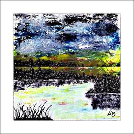 2016-02#04_Regentag am See, Ölmalerei