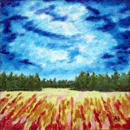 2016-06#11_Landschaft im Herbst-Wald-Bumreihen-Feld_Ölmalerei