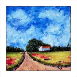 2016-10#04_Landschaft-Felder-Sommer-Ölgemälde-Wald-BäumeHaus-Weg-Ölmalerei-Ölbild
