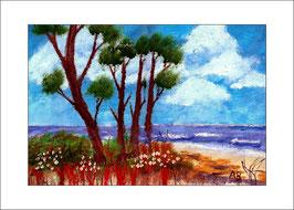 2015-12#04_Meer-Küstenlandschaf-Strand-Bäume-Blumen-Wiese-Ölmalerei-Gemälde