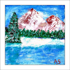 2016-03#23-4_Gebirge im Winter-Ölmalerei