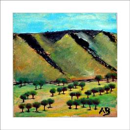 2016-03#01_Kalifornische Hügellandschaft-Weinland-moderne Ölmalerei