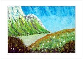 2016-02#11_Fluß im Gebirge, Ölmalerei