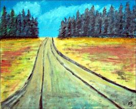 2017#24_Landschaft-Felder-Ölmalerei-Feldlandschaft-Bäume-Wald-Weg-Sommer-Ölbild-Ölgemälde-Malerei-Kunst