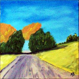 2017#27_Landschaft-Felder-Ölmalerei-Feldweg-Hügel-Bäume-Wald-Himmel-Ölbild-Landschaftsmalerei-Ölgemälde