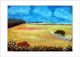 2016-02#13_Weizenfelder mit Bäumen, Ölmalerei