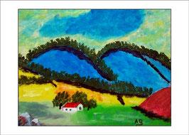 2016-02#14_Expressionistische Berglandschaft, Ölmalerei