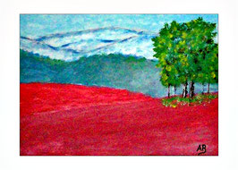 2016-08#07_Landschaft-Abstrakt-Hügel-Wälder-Rote Erde-Bäume-Expressionismus-Ölgemälde-Ölmalerei