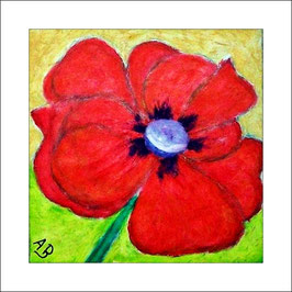 2016-10#03_Mohnblume-Stillleben-Rot-Blume-Ölbild-Moderne Malerei-Ölgemälge-Ölmalerei
