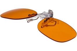 Blaulicht Schutzbrillen-Clip, PRO orange mit UV-Lichtschutz