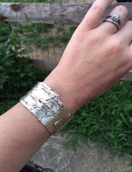 "Birch Bark Cuff- 1.25"" wide"