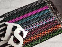 Halsbänder Biothane umwickelt mit Textilgarn oder Paracord