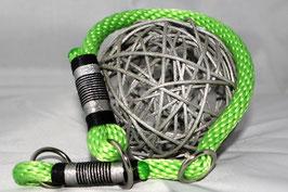 Halsbänder aus Tau oder hochwertigem Kletterseil mit Zugstopp oder verstellbar durch Biothane-Adapter
