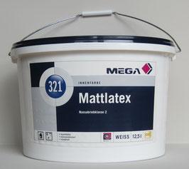 Mattlatex Mega 321 12,5 l / Decken- und Wandfarbe - stumpfmatte Latexfarbe / Top Innenfarbe / Profi-Qualität
