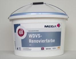 Mega 408 WDVS-Renovierfarbe 12,5 l weiß - Fasadenfarbe Mega