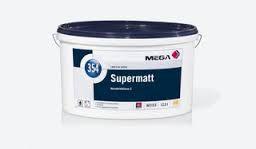 Innenfarbe Supermatt Mega 354 12,5 l weiß / Decken- und Wandfarbe - stumpfmatte Dispersionsfarbe / Top Profi-Qualität