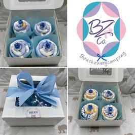 Windel-Cupcakes 4er Pack