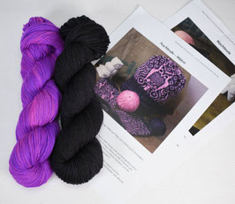 Strickkit NACHTEULE Neonpurple - Black