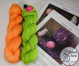 Strickkit NACHTEULE Soft Orange - Toxic Waste
