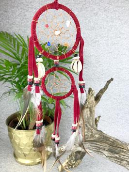 Traumfänger 2-Ringe mit Muscheln und Steinen