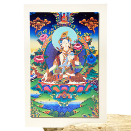 Postkarte Weiße Tara