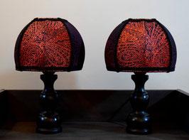 Paire de lampes style rétro