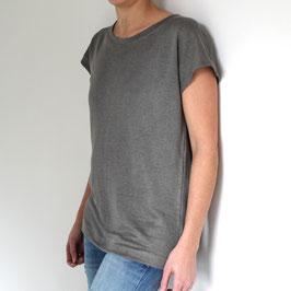 Kurzarm-Shirt aus Bio Leinen - Farbe grau
