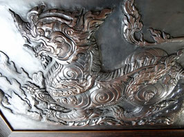Drache, handgefertigtes,  Kupferbild, erstellt in Treibe- Ziseliertechnik, limitiertes Einzelstück