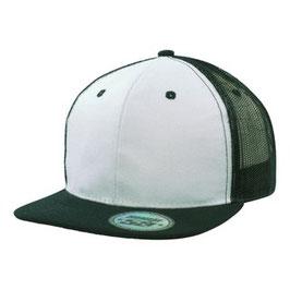 Moderne Flatcap mit Snap back pro sticker weiß und schwarz Schirm