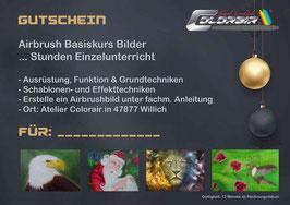 Bilderkurs Einzel- oder Gruppenunterricht Airbrush Gutschein